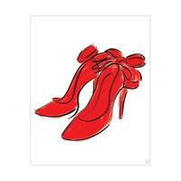 Crimson Bowed Heels
