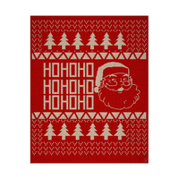 Ho Ho Ho Christmas Sweater - Cranberry