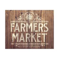 Rustic Farmer's Market Sign Gamma