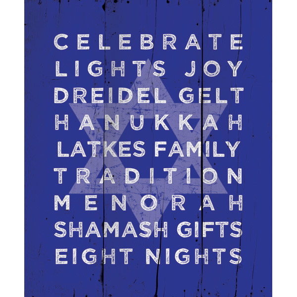Hanukkah Traditions - Monochromatic Blue