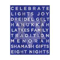 Hanukkah Traditions - Monochromatic Blue