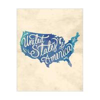 Vintage Map - United States of America