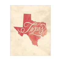 Vintage Map - Texas
