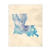 Vintage Map - Louisiana