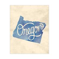 Vintage Map - Oregon