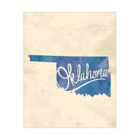 Vintage Map - Oklahoma