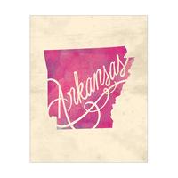 Vintage Map - Arkansas