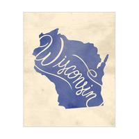 Vintage Map - Wisconsin