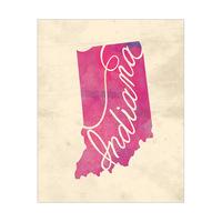 Vintage Map - Indiana