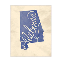 Vintage Map - Alabama