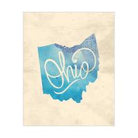 Vintage Map - Ohio