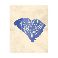 Vintage Map - South Carolina