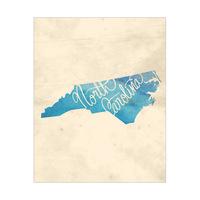 Vintage Map - North Carolina
