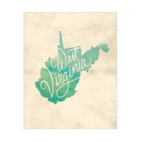 Vintage Map - West Virginia