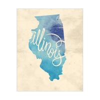 Vintage Map - Illinois