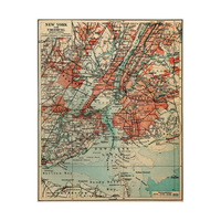Vintage New York Map