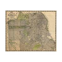 Vintage San Francisco Map