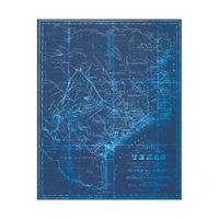 Vintage Texas Blueprint