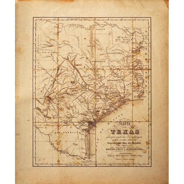 Sepia Texas Map