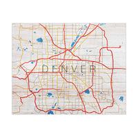 Denver City Roads on Wood