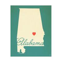 Alabama Heart Aqua