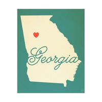 Georgia Heart Aqua