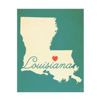 Louisiana Heart Aqua