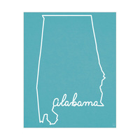 Alabama Script on Blue