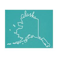 Alaska Script on Blue