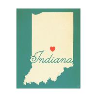 Indiana Heart Aqua
