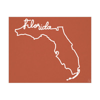 Florida Script on Red