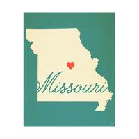 Missouri Heart Aqua