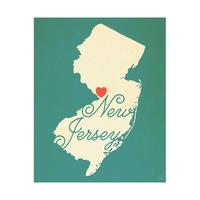 New Jersey Heart Aqua