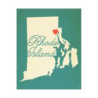 Rhode Island Heart Aqua