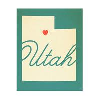 Utah Heart Aqua