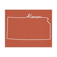 Kansas Script on Red