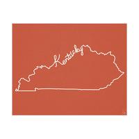 Kentucky Script on Red