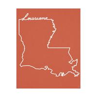 Louisiana Script on Red