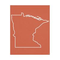 Minnesota Script on Red