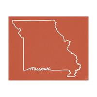Missouri Script on Red