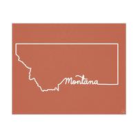 Montana Script on Red