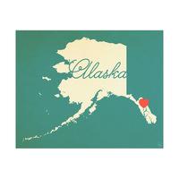 Alaska Heart Aqua