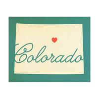 Colorado Heart Aqua