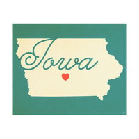 Iowa Heart Aqua