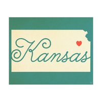 Kansas Heart Aqua