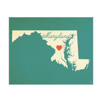 Maryland Heart Aqua