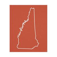 New Hampshire Script Red