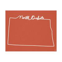North Dakota Script Red