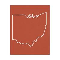 Ohio Script Red