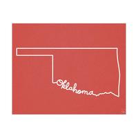 Oklahoma Script Red